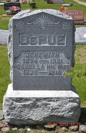 DEPUE, ISABELLA - Branch County, Michigan | ISABELLA DEPUE - Michigan Gravestone Photos