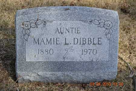 DIBBLE, MAMIE L. - Branch County, Michigan | MAMIE L. DIBBLE - Michigan Gravestone Photos