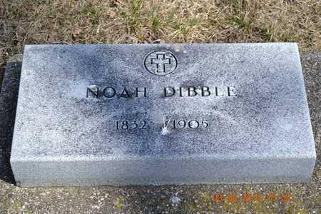 DIBBLE, NOAH - Branch County, Michigan | NOAH DIBBLE - Michigan Gravestone Photos