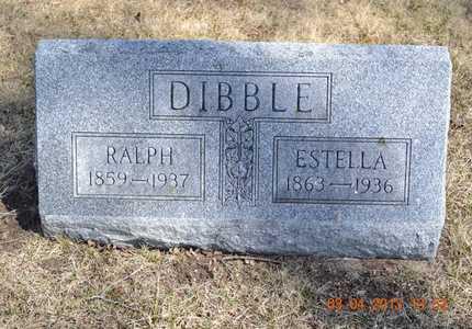 DIBBLE, ESTELLA - Branch County, Michigan | ESTELLA DIBBLE - Michigan Gravestone Photos