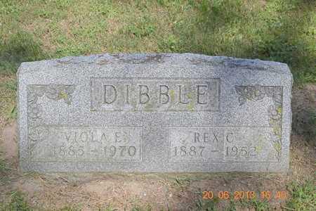 DIBBLE, REX C. - Branch County, Michigan | REX C. DIBBLE - Michigan Gravestone Photos