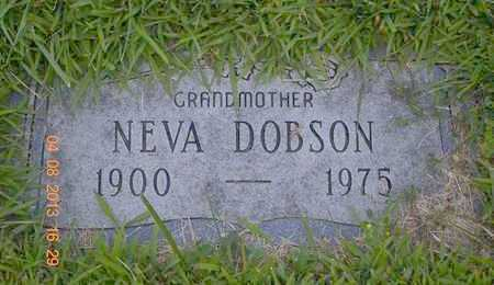 DOBSON, NEVA - Branch County, Michigan   NEVA DOBSON - Michigan Gravestone Photos