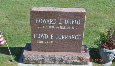 DUFLO, HOWARD J. - Branch County, Michigan | HOWARD J. DUFLO - Michigan Gravestone Photos