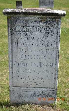 DUNLAP, MATILDA - Branch County, Michigan   MATILDA DUNLAP - Michigan Gravestone Photos