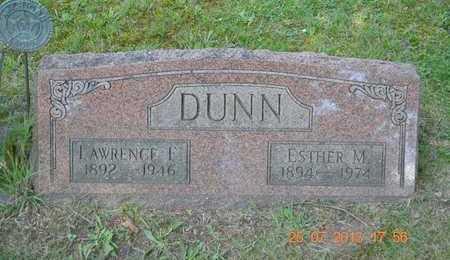 DUNN, ESTHER M. - Branch County, Michigan   ESTHER M. DUNN - Michigan Gravestone Photos