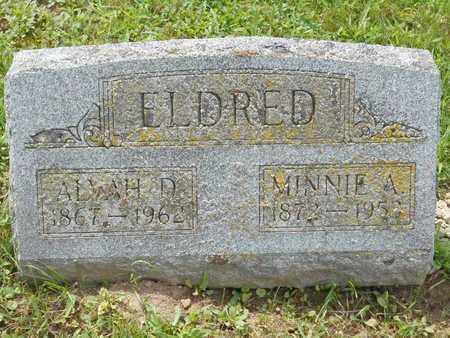 ELDRED, MINNIE A. - Branch County, Michigan | MINNIE A. ELDRED - Michigan Gravestone Photos