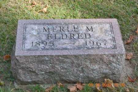 ELDRED, MERLE M. - Branch County, Michigan   MERLE M. ELDRED - Michigan Gravestone Photos