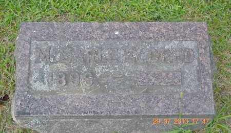 ELDRED, M. EARLE - Branch County, Michigan | M. EARLE ELDRED - Michigan Gravestone Photos