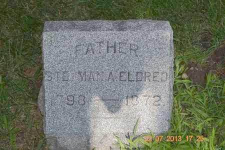 ELDRED, STEDMAN A. - Branch County, Michigan   STEDMAN A. ELDRED - Michigan Gravestone Photos