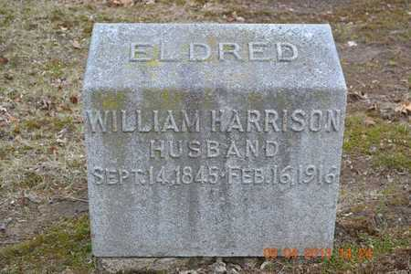 ELDRED, WILLIAM HARRISON - Branch County, Michigan | WILLIAM HARRISON ELDRED - Michigan Gravestone Photos