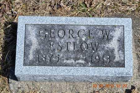 ESTLOW, GEORGE W. - Branch County, Michigan   GEORGE W. ESTLOW - Michigan Gravestone Photos