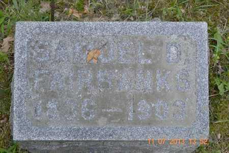 FAIRBANKS, SAMUEL D. - Branch County, Michigan   SAMUEL D. FAIRBANKS - Michigan Gravestone Photos