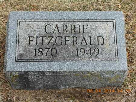 FITZGERALD, CARRIE - Branch County, Michigan | CARRIE FITZGERALD - Michigan Gravestone Photos
