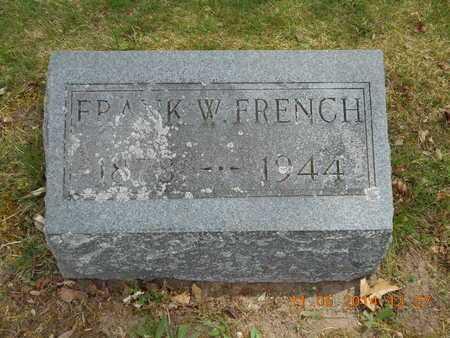FRENCH, FRANK W. - Branch County, Michigan   FRANK W. FRENCH - Michigan Gravestone Photos
