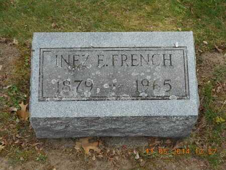 FRENCH, INEZ E. - Branch County, Michigan | INEZ E. FRENCH - Michigan Gravestone Photos