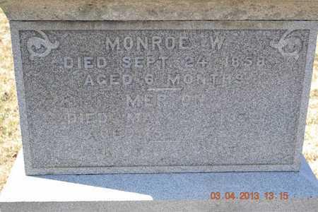 FRENCH, MONROE W. - Branch County, Michigan | MONROE W. FRENCH - Michigan Gravestone Photos