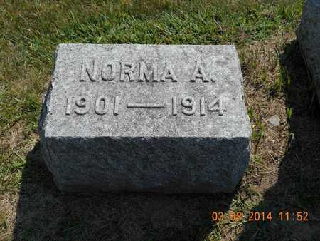 FRENCH, NORMA A. - Branch County, Michigan | NORMA A. FRENCH - Michigan Gravestone Photos