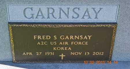 GARNSAY, FRED S. - Branch County, Michigan | FRED S. GARNSAY - Michigan Gravestone Photos