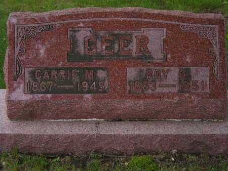 GEER, CARRIE M. - Branch County, Michigan | CARRIE M. GEER - Michigan Gravestone Photos