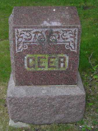 GEER, FAMILY - Branch County, Michigan | FAMILY GEER - Michigan Gravestone Photos