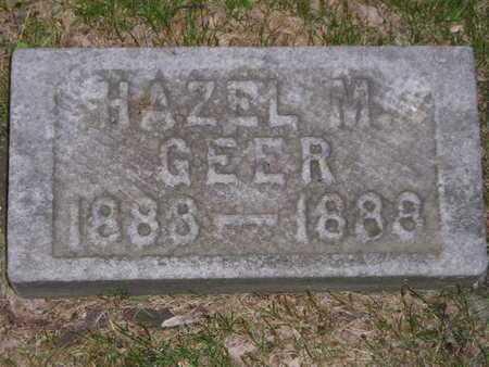 GEER, HAZEL M. - Branch County, Michigan | HAZEL M. GEER - Michigan Gravestone Photos