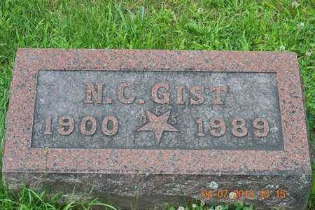 GIST, N.C. - Branch County, Michigan | N.C. GIST - Michigan Gravestone Photos