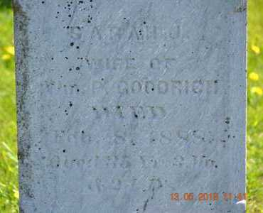GOODRICH, SARAH J.(CLOSEUP) - Branch County, Michigan | SARAH J.(CLOSEUP) GOODRICH - Michigan Gravestone Photos