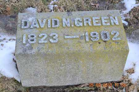 GREEN, DAVID N. - Branch County, Michigan | DAVID N. GREEN - Michigan Gravestone Photos
