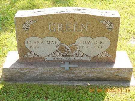 GREEN, CLARA MAE - Branch County, Michigan | CLARA MAE GREEN - Michigan Gravestone Photos