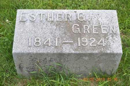 GREEN, ESTHER G. - Branch County, Michigan | ESTHER G. GREEN - Michigan Gravestone Photos