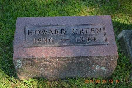 GREEN, HOWARD - Branch County, Michigan   HOWARD GREEN - Michigan Gravestone Photos