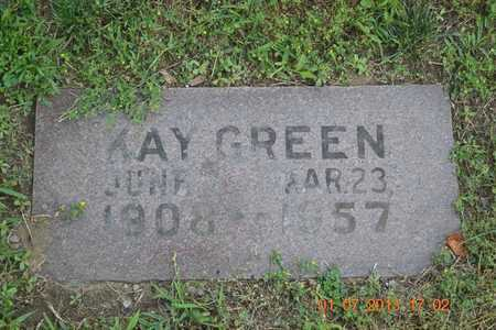 GREEN, KAY - Branch County, Michigan | KAY GREEN - Michigan Gravestone Photos