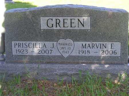 GREEN, PRISCILLA J. - Branch County, Michigan | PRISCILLA J. GREEN - Michigan Gravestone Photos