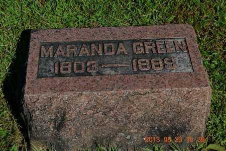GREEN, MARANDA - Branch County, Michigan   MARANDA GREEN - Michigan Gravestone Photos