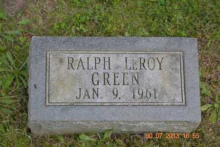 GREEN, RALPH LEROY - Branch County, Michigan | RALPH LEROY GREEN - Michigan Gravestone Photos