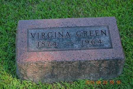 GREEN, VIRGINIA - Branch County, Michigan | VIRGINIA GREEN - Michigan Gravestone Photos