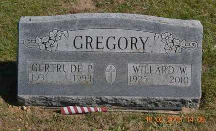 GREGORY, WILLARD W. - Branch County, Michigan   WILLARD W. GREGORY - Michigan Gravestone Photos