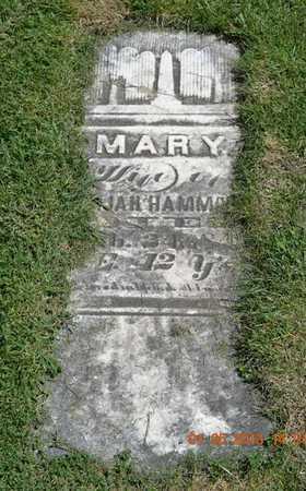 HAMMOND, MARY - Branch County, Michigan | MARY HAMMOND - Michigan Gravestone Photos