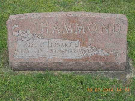 HAMMOND, ROSE E. - Branch County, Michigan   ROSE E. HAMMOND - Michigan Gravestone Photos