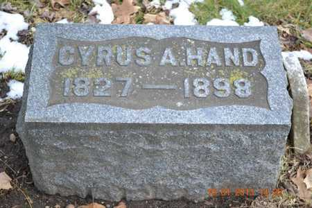 HAND, CYRUS A. - Branch County, Michigan | CYRUS A. HAND - Michigan Gravestone Photos