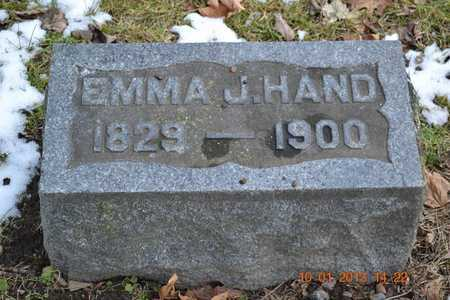 HAND, EMMA J. - Branch County, Michigan   EMMA J. HAND - Michigan Gravestone Photos