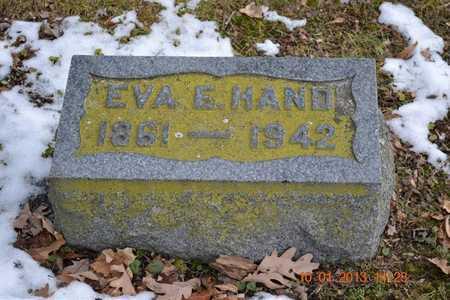 HAND, EVA E. - Branch County, Michigan | EVA E. HAND - Michigan Gravestone Photos