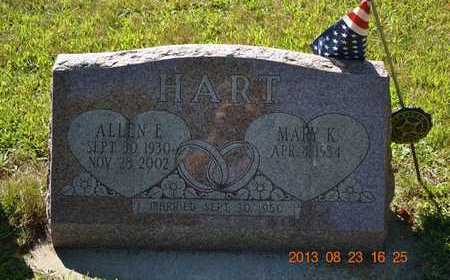 HART, MARY K. - Branch County, Michigan | MARY K. HART - Michigan Gravestone Photos