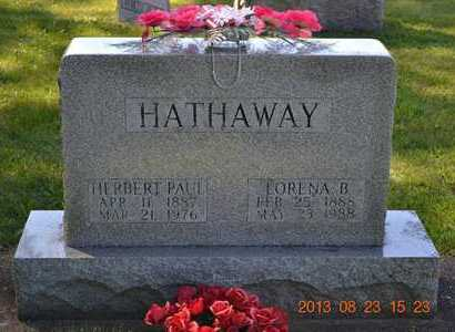 HATHAWAY, LORENA B. - Branch County, Michigan | LORENA B. HATHAWAY - Michigan Gravestone Photos