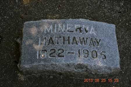 HATHAWAY, MINERVA - Branch County, Michigan | MINERVA HATHAWAY - Michigan Gravestone Photos