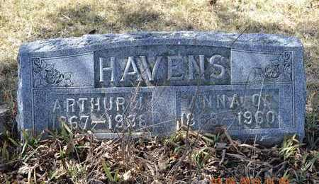 HAVENS, ANNA O. - Branch County, Michigan | ANNA O. HAVENS - Michigan Gravestone Photos