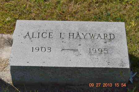 HAYWARD, ALICE I. - Branch County, Michigan | ALICE I. HAYWARD - Michigan Gravestone Photos