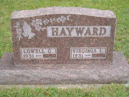 HAYWARD, VIRGINIA L. - Branch County, Michigan   VIRGINIA L. HAYWARD - Michigan Gravestone Photos