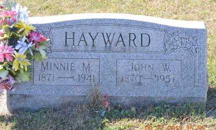 HAYWARD, MINNIE M. - Branch County, Michigan | MINNIE M. HAYWARD - Michigan Gravestone Photos