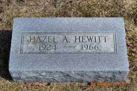 HEWITT, HAZEL A. - Branch County, Michigan | HAZEL A. HEWITT - Michigan Gravestone Photos
